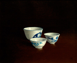 Chinese Bowls, acrylic on linen