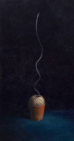 String Theory, acrylic on board