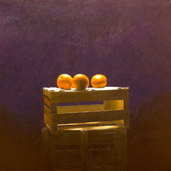 The Love of Three Oranges, acrylic on canvas