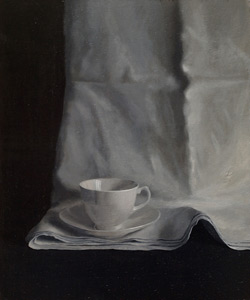 Afternoon Tea, one of 3, acrylic on board