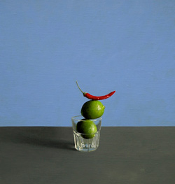 Chilli & Limes, acrylic on linen